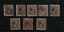España. 8 sellos 15 cts Pelón con matasello Correo Español Marruecos