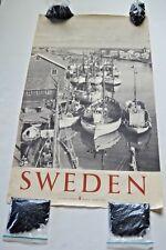 Original, vintage, mid-century Sweden travel/tourism poster-photo by B. Norberg