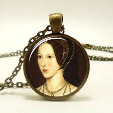 Anne Boleyn Tudor  Necklace, Queen of England Portrait Pendant (0533B1IN)