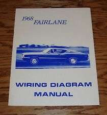 1968 Ford Fairlane Wiring Diagram Manual Brochure 68