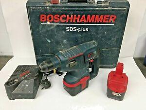 BOSCH SDS Drill - BoschHammer, GBH 24V, 2x Batteries & Charger (70811/CK)