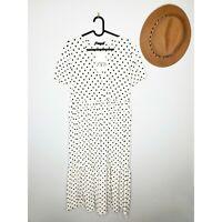 NWT Zara Polka Dot Midi Ruffled Dress Ref 165/704 AW19