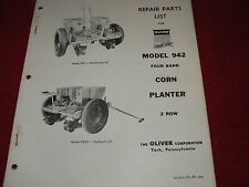 Oliver Tractor Iron Age 942 Corn Planter Dealer's Parts Book