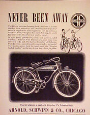 1939 Arnold Schwinn & Co Chicago Bicycles Motobike Bikes Trade AD
