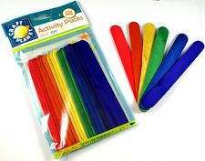25 x Extra Large XL Coloured Wooden Lolly Lollipop Ice Lolly Stick