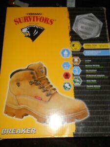 Herman SURVIVORS Steel Toe BREAKER Boots Sz 9 Wide Men's WATERPROOF