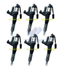 6pcs Fuel Injectors 095000-6593 VH23670E0520 For Hino J08E Kobelco SK200-8 Parts