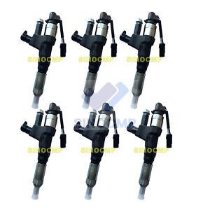 6pcs Fuel Injectors 095000-6593 VH23670E0520 For Hino J08E Kobelco SK200-8 Parts