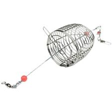 2Pcs Wire Fishing Lure Conical Cage Fish Bait Lure Cage Small Fish Bait Cage Fis
