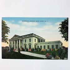 Governor's Mansion Baton Rouge LA Linen Postcard
