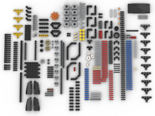400+ New Lego Technic liftarms, V8 engine parts, panels gears from set 42082