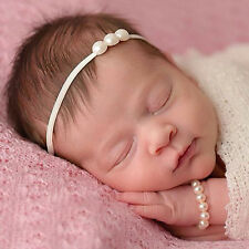 Cute Baby Girl Kids Toddler Elastic Faux Pearl Head Band Headband Headdress