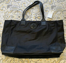 Tory Burch Ella Packable Nylon Leather Tote