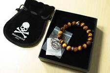 MasterMind Japan MMJ Skull Pirate Tiger's Eye Braclet NIB