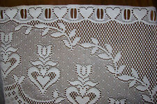 JC Penney Ivory Curtains Swags Sheer Kitchen / Dining Crocheted Lace 5 Sets