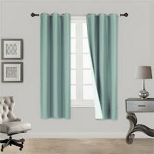 """1 MINT SOLID PANEL THERMAL LINED BLACKOUT GROMMET WINDOW CURTAIN K32 63"""""""