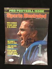 (VI, XII) Roger Staubach Signed SI Magazine Cover 1978 NFL Cowboys JSA CERTIFIED