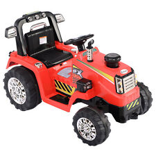 12V Battery Powered Kids Ride On Tractor Electric Toys w/ Mp3 Led Lights Red