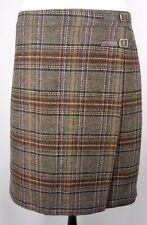 . BODEN New Size 20 L Skirt Brown Wool British Tweed by Moon