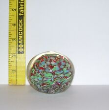 WILD FUN MOD GLASS HEAVY PAPERWEIGHT COLLECTIBLE NICE PREOWNED CONDITION
