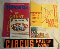 Circus Advertising Brochure Program Circus World Museum The Great Circus Parade