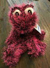 Hot Pink / Black Frog Plush Stuffed Animal Amphibian Toy Doll Ideal Toys Direct
