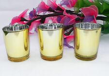 24 gold wedding decoration tealight votive candle holder favor function xmas