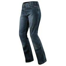 Jeans Damen Ce-Protektoren Knie Hose Lady Motorrad Roller Blau Touring