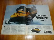 MX Z FORMULA 463cc ROTAX SKI-DOO 1993 SNOWMOBILES AD ANNONCE MAGAZINE ORIGINAL