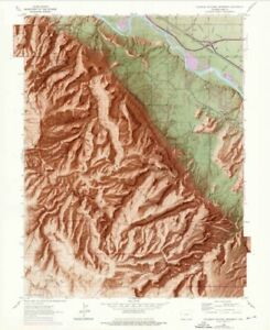 VISIT THE HEART OF THE WORLD WITH THIS COLORADO NATIONAL MONUMENT RELIEF MAP