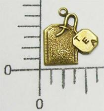52763 6 Pc. Brass Oxidized Tea Bag Charm Brass Jewelry Finding Sale