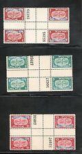 Israel Scott #10-14CG Cross Vertical Gutter Blocks (Heart of Sheet) MNH!!