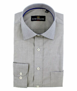 Peter England Grey Plain Effect Shirt