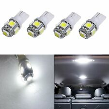 4x White T10 168 194 2825 W5W 5 SMD LED Dome Map Cargo 4xM1