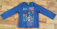 """Boys Miniclub Top Age 1-1.5years.long Sleeves.""""It's My Way or The High Way."""""""