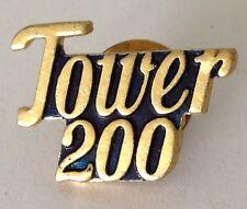 Tower 200 Small Pin Badge Rare Vintage (J2)