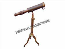Antique Nautical Decorative Vintage Telescope With Tripod Full Brass Telescope