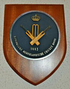 Koninklijke Nederlandse Cricket Bond plaque shield Royal Dutch Cricket Board