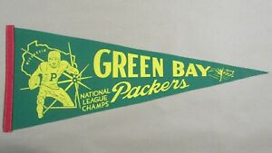 Vintage 1960's Green Bay Packers National League Champs Pennant - Lombardi Era