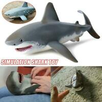 Lifelike Shark Shaped Toy Realistic Motion Animal Model For Kids New.
