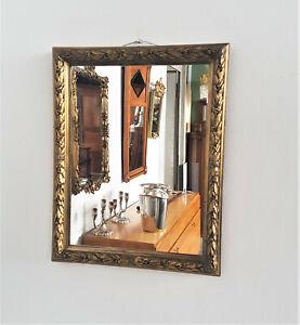 Small Prunk-Spiegel Kreuzbanddekor Stucco & Gold Plated Um 1900 49 X 39 CM