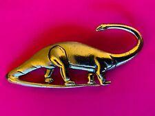Vintage Gold Ton 00004000 e Dinosaur Brontosaurus Pin Brooch West Germany