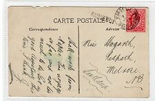 Postcard with MARSEILLE and PAQUEBOT postmarks (C20230)
