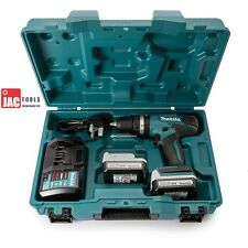 MAKITA HP347DWE 14.4V COMBI DRILL 2X LI-ION BATTERIES FAST CHARGER & HARD CASE