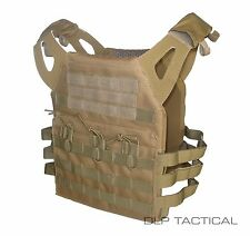DLP Tactical WRAITH JPC MOLLE plate carrier vest in Coyote Brown