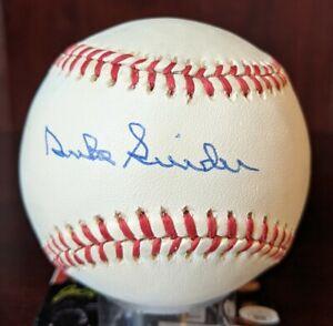 Duke Snider Signed Autographed OML Baseball Brooklyn Dodgers HOF JSA Cert W Case