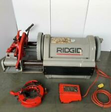 "RIDGID 1224 PIPE THREADER/ THREADING MACHINE WITH 2 HEADS120V 1/2""-4"" SIZE #1"