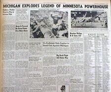 1945 newspaper MICHIGAN STATE defeat MINNESOTA College Football LITTLE BROWN JUG