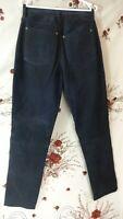 enjoy men's genuine pig leather black trousers pants size 32 di