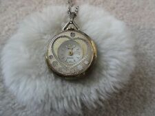 Up Vintage Necklace Pendant Watch Swiss Made Webster Anti Magnetic Wind